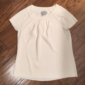 Loft cream sweater blouse